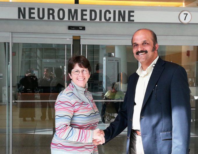 Photo of Dr. Jean Cibula and Dr. Giridhr Kalamangalam